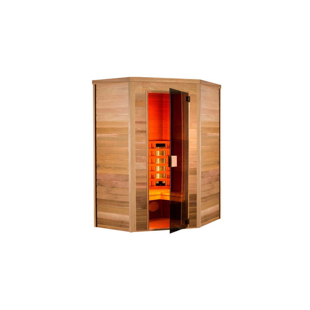 sauna infrarouge infrawave 2 3 places. Black Bedroom Furniture Sets. Home Design Ideas