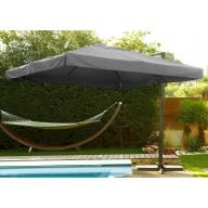 Parasol avec toile carrée grise 3x3 m