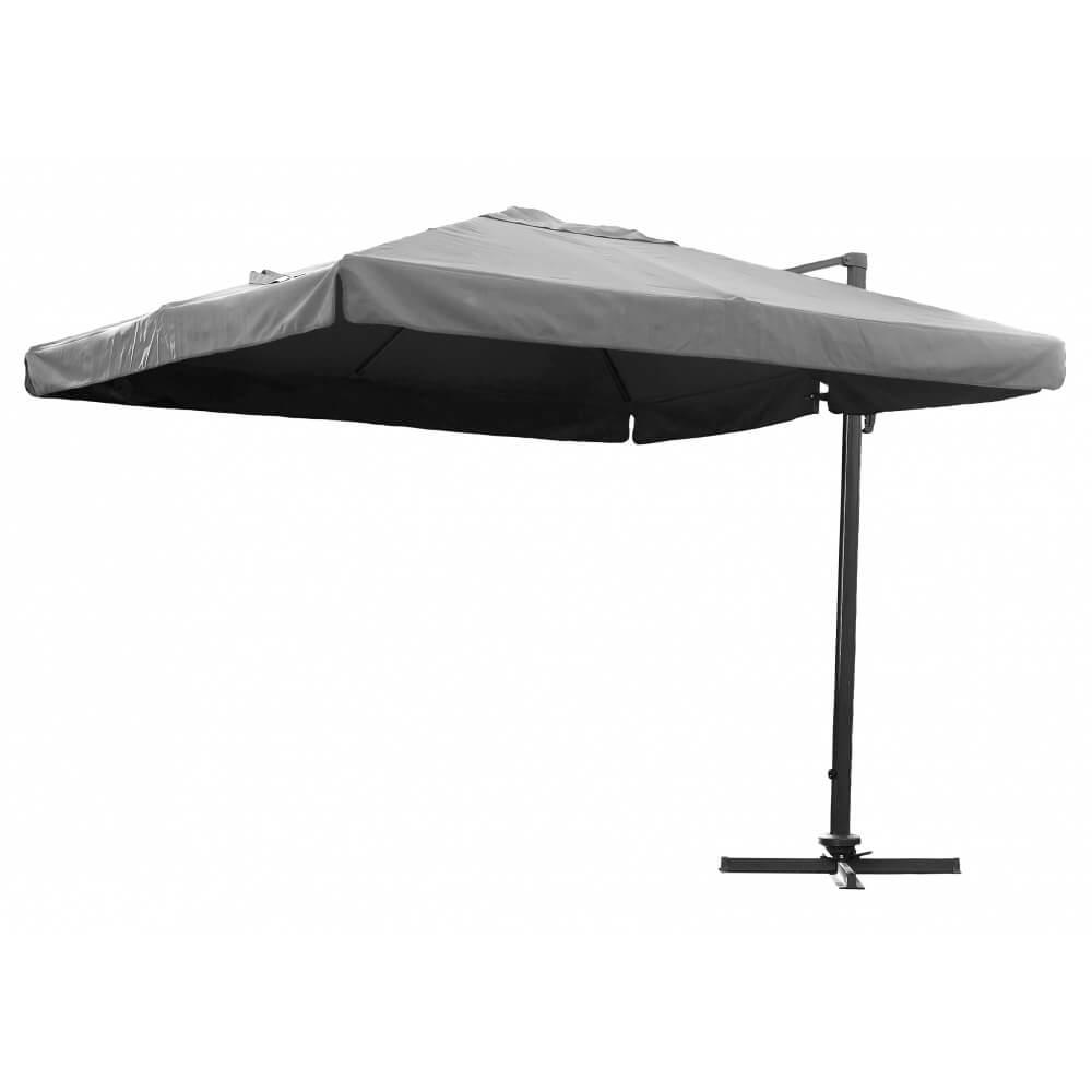 parasol gris aluminium carr 3x3m mypiscine. Black Bedroom Furniture Sets. Home Design Ideas