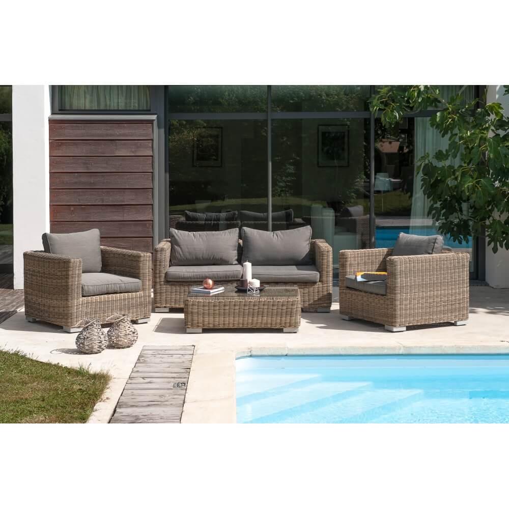 salon de jardin en r sine tress e montmartre 4 places. Black Bedroom Furniture Sets. Home Design Ideas