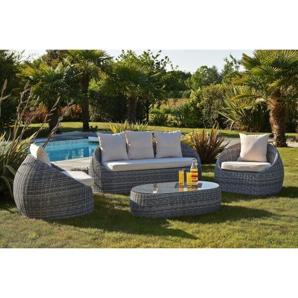 salon de jardin isa en r sine tress e mypiscine. Black Bedroom Furniture Sets. Home Design Ideas
