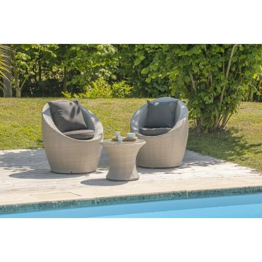 salon de jardin 2 places totem porto mypiscine. Black Bedroom Furniture Sets. Home Design Ideas