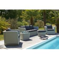 Salon de jardin Portovecchio 6 places en résine tressée – GRIS