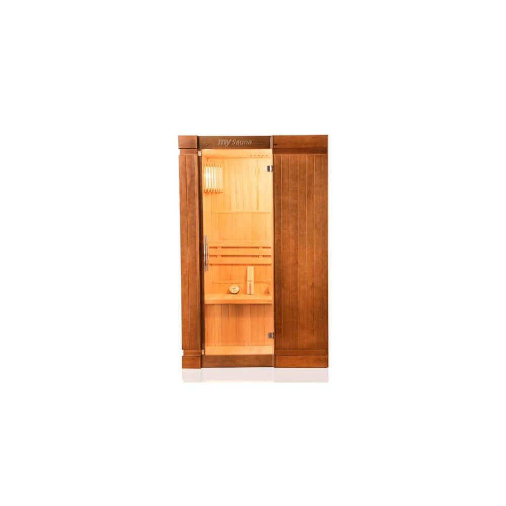 cabine de sauna vapeur opal 2 places mysauna. Black Bedroom Furniture Sets. Home Design Ideas