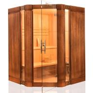 Sauna vapeur OPAL angulaire 3 à 4 places