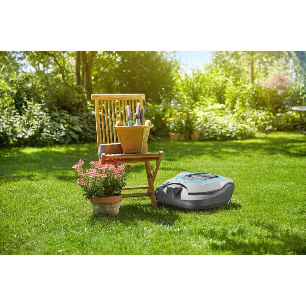 robot tondeuse gardena sileno. Black Bedroom Furniture Sets. Home Design Ideas