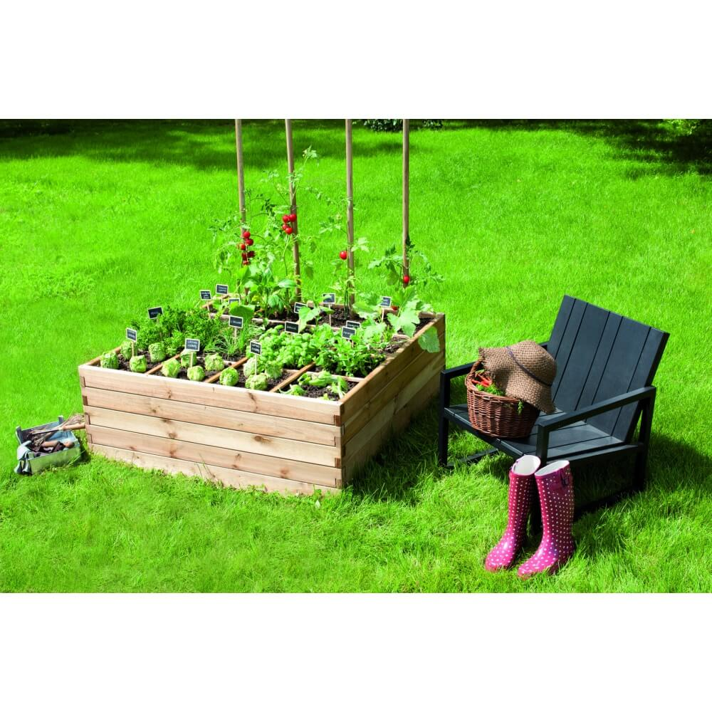 Carr potager estragon mypiscine for Amenagement jardin carre
