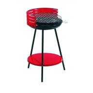 Barbecue à charbon rond 42B rouge avec Pare-feu