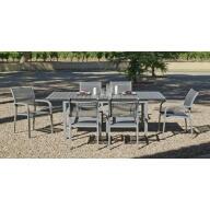 Table et chaise de jardin Denis Amberes 6 places