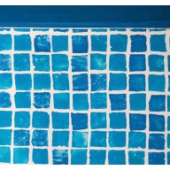 Liner mosaique pour piscine ronde Diam 460 H132