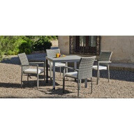 Table et chaise de jardin Denis Rimini 4 places