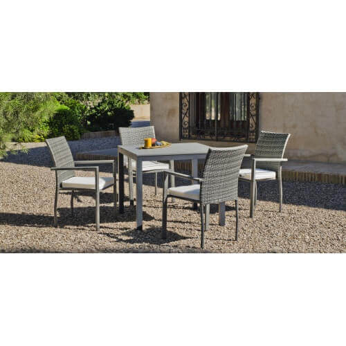 Table et chaise de jardin Denis Rimini 4 places