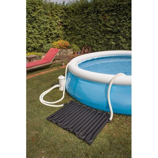 Chauffage par panneau solaire souple pour piscines hors for Dome solaire piscine hors sol