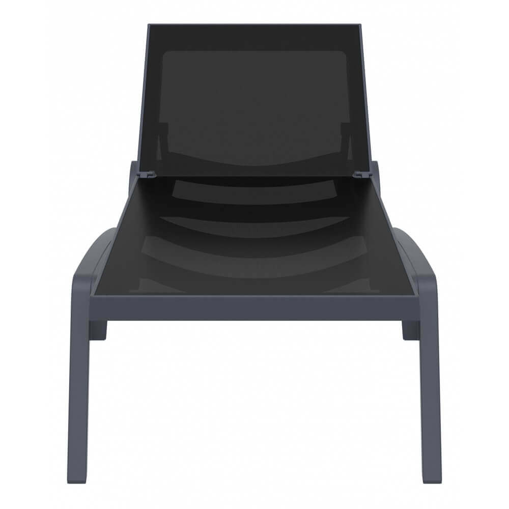 transat costa coloris gris anthracite noir mypiscine. Black Bedroom Furniture Sets. Home Design Ideas