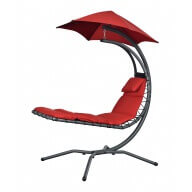 Chaise longue suspendue Nest Move Coloris Rouge
