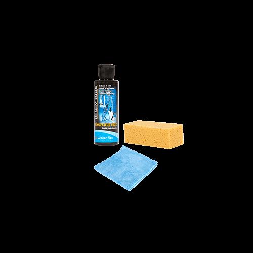 Waterflex Renov'Inox 125ml + éponge et micro-fibres