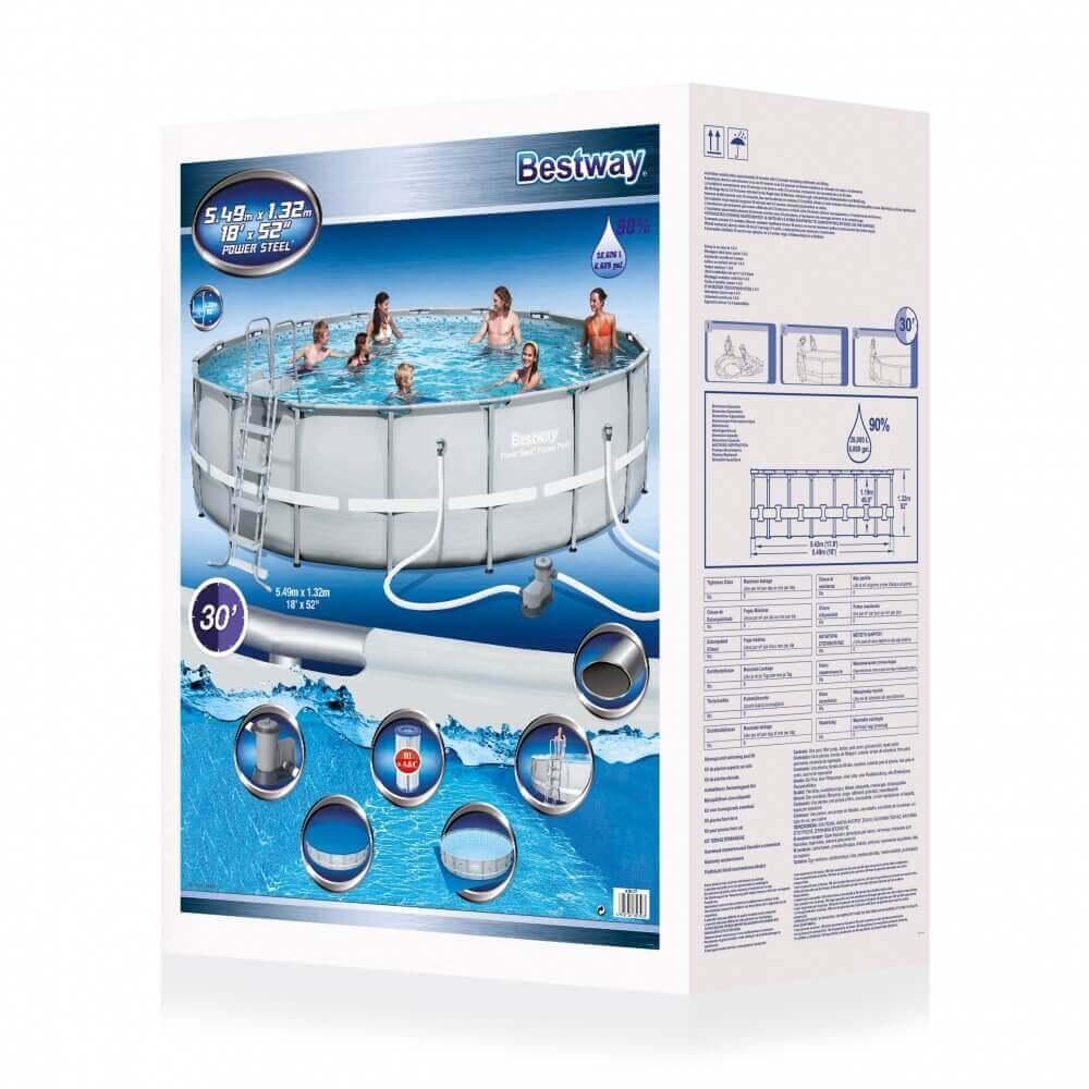 Piscine tubulaire power steel frame 549 x h132 cm mypiscine for Best way piscine