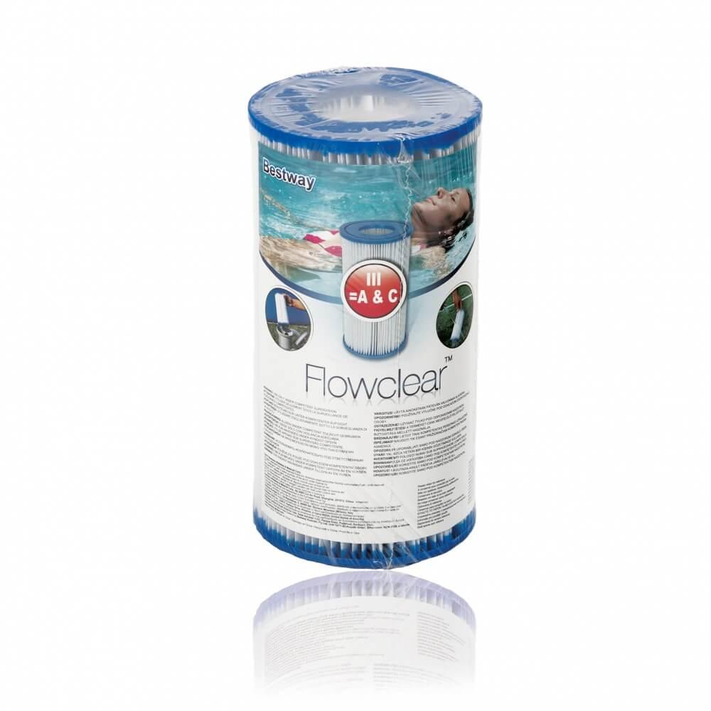 Cartouche de filtration bestway type iii mypiscine for Filtre pour piscine bestway