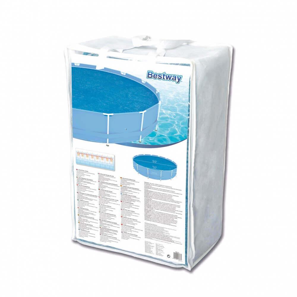 B che bulles d 440 pour piscine frame pool d 457 cm Bache a bulles pour piscine