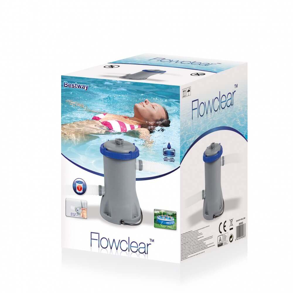 Filtre cartouche bestway 2 m3 h 58383 - Cartouche filtre piscine magiline ...
