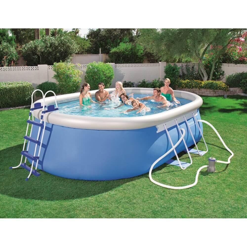 Piscine autoportante bestway 488 x 305 x h 107 cm 56447 for Best way piscine