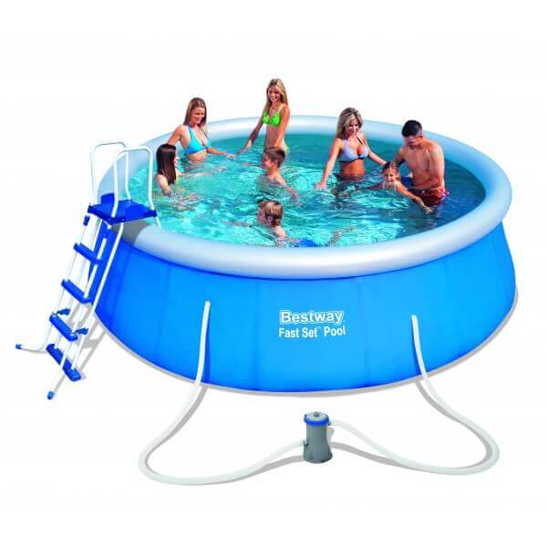 Piscine autoportante ronde 457 h122 cm mypiscine for Piscina autoportante