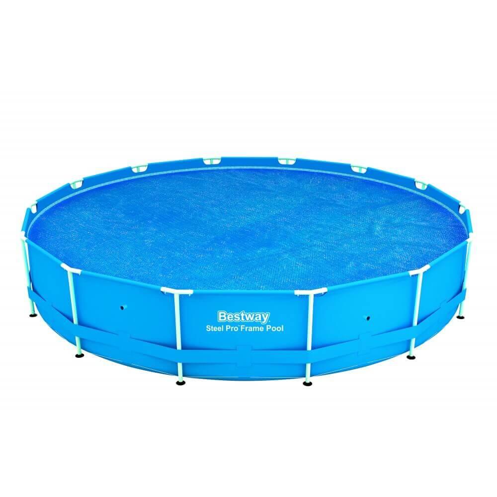 B che bulles piscine bestway 457 cm ronde 58172 - Bache hivernage piscine hors sol ronde ...