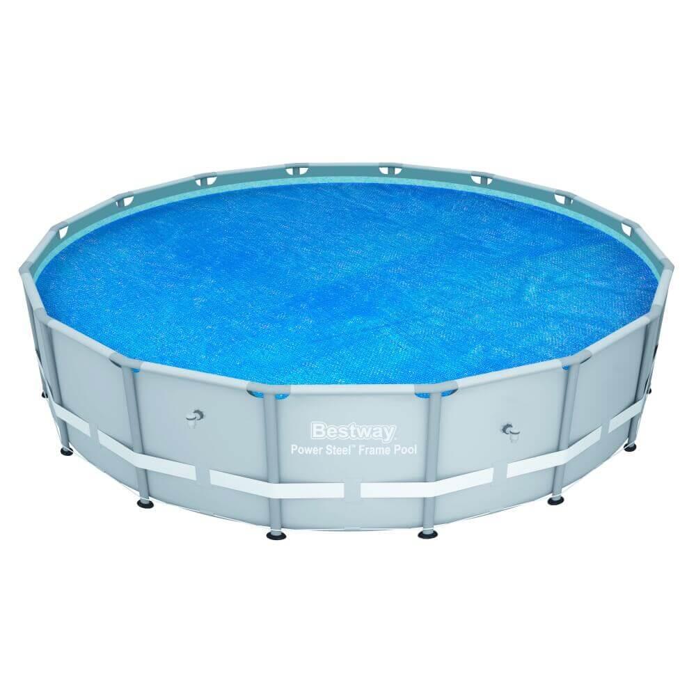 B che bulles d 470 pour piscine frame pool d 488 cm - Bache bulle piscine hors sol ...