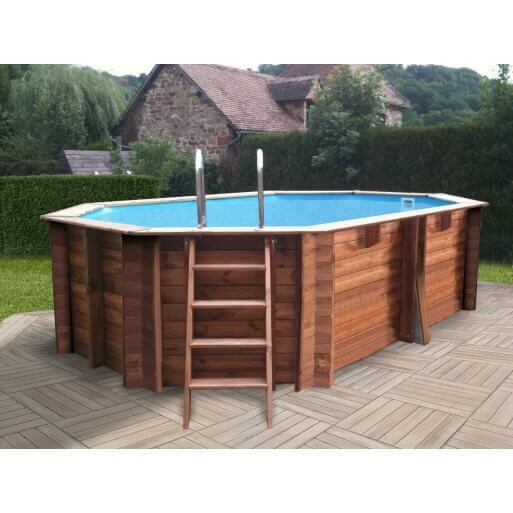 piscine hors sol sunbay en bois 4 46x3 36m mypiscine. Black Bedroom Furniture Sets. Home Design Ideas