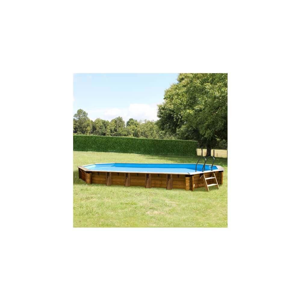 Piscine bois sunbay sevilla 872 x 472 cm mypiscine for Piscine sevilla