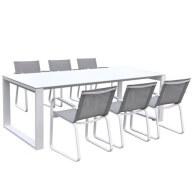 Table et chaises de jardin Syracuse 6 places en textilène