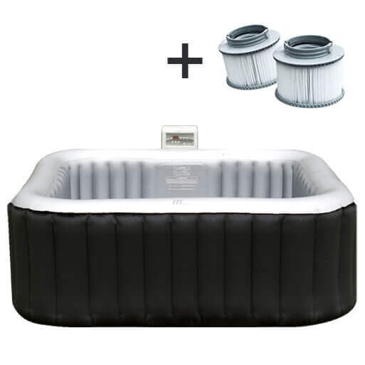Spa gonflable mspa carr alpine lite 4 places mypiscine - Jacuzzi gonflable carre ...