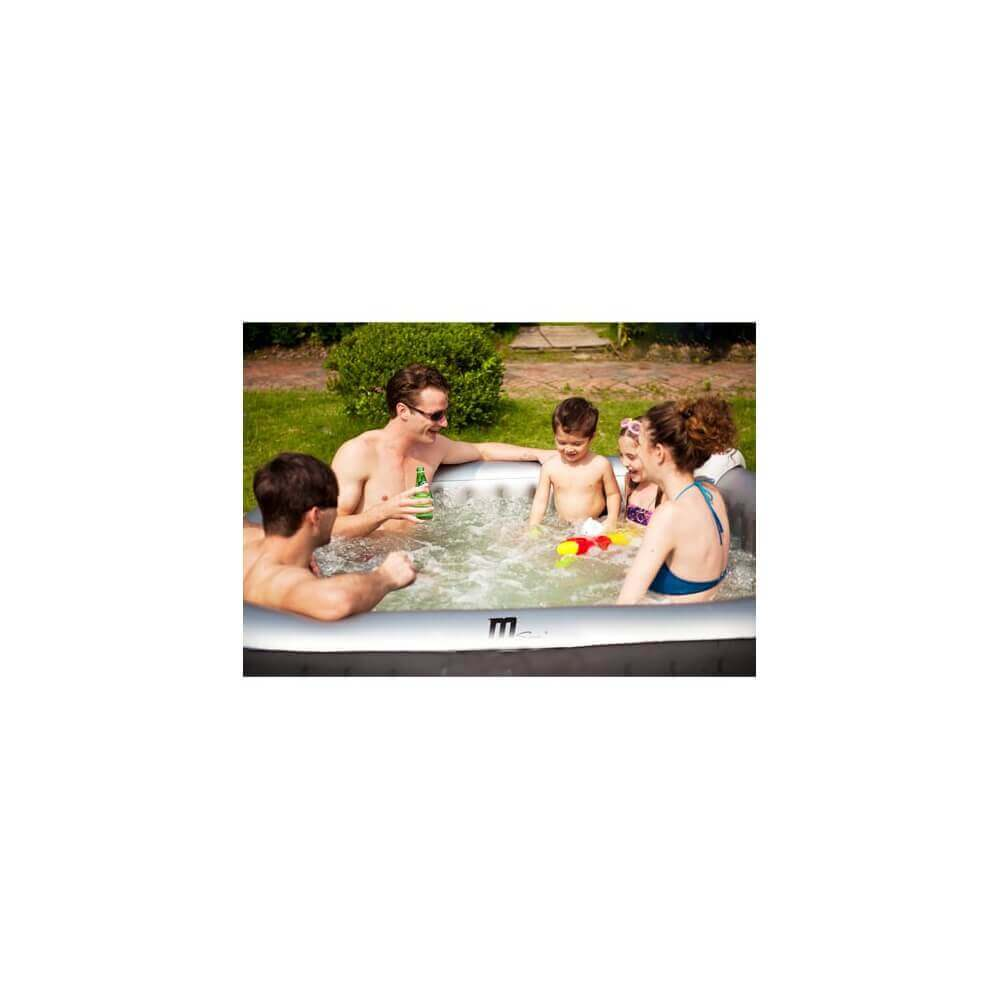 Spa gonflable mspa carr alpine lite 4 places mypiscine - Spa gonflable carre ...
