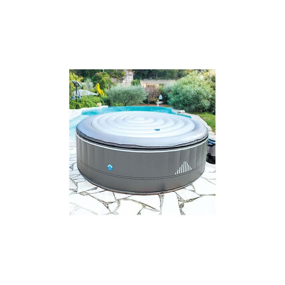Couvercle gonflable pour spa rond netspa 4 places mypiscine for Piscine 4 places