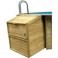 Coffre de filtration en bois H120 cm livré avec serrure à clé
