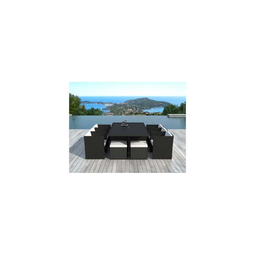 Table et chaises de jardin Cancun 10 places - MyPiscine