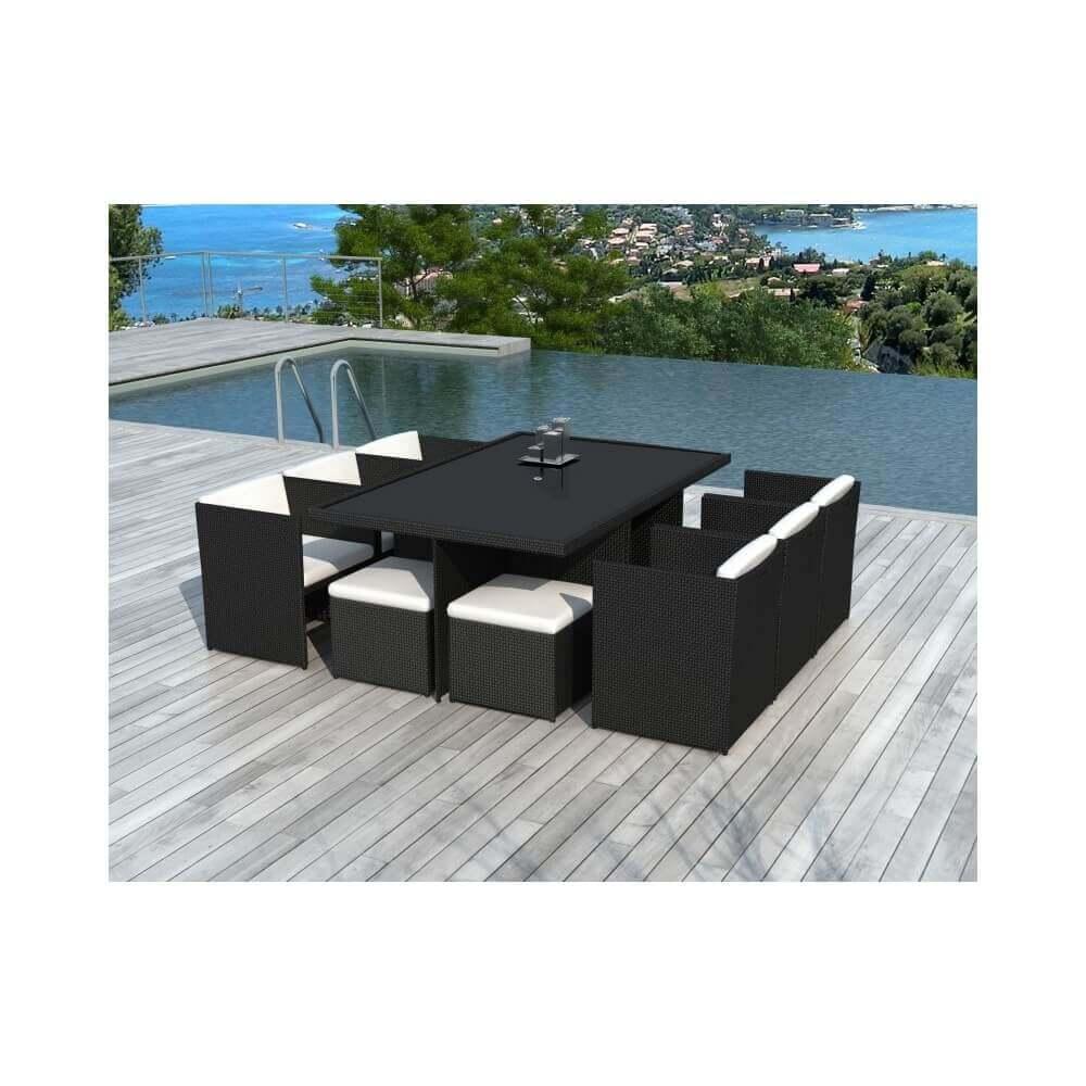 table et chaises de jardin cancun 10 places mypiscine. Black Bedroom Furniture Sets. Home Design Ideas