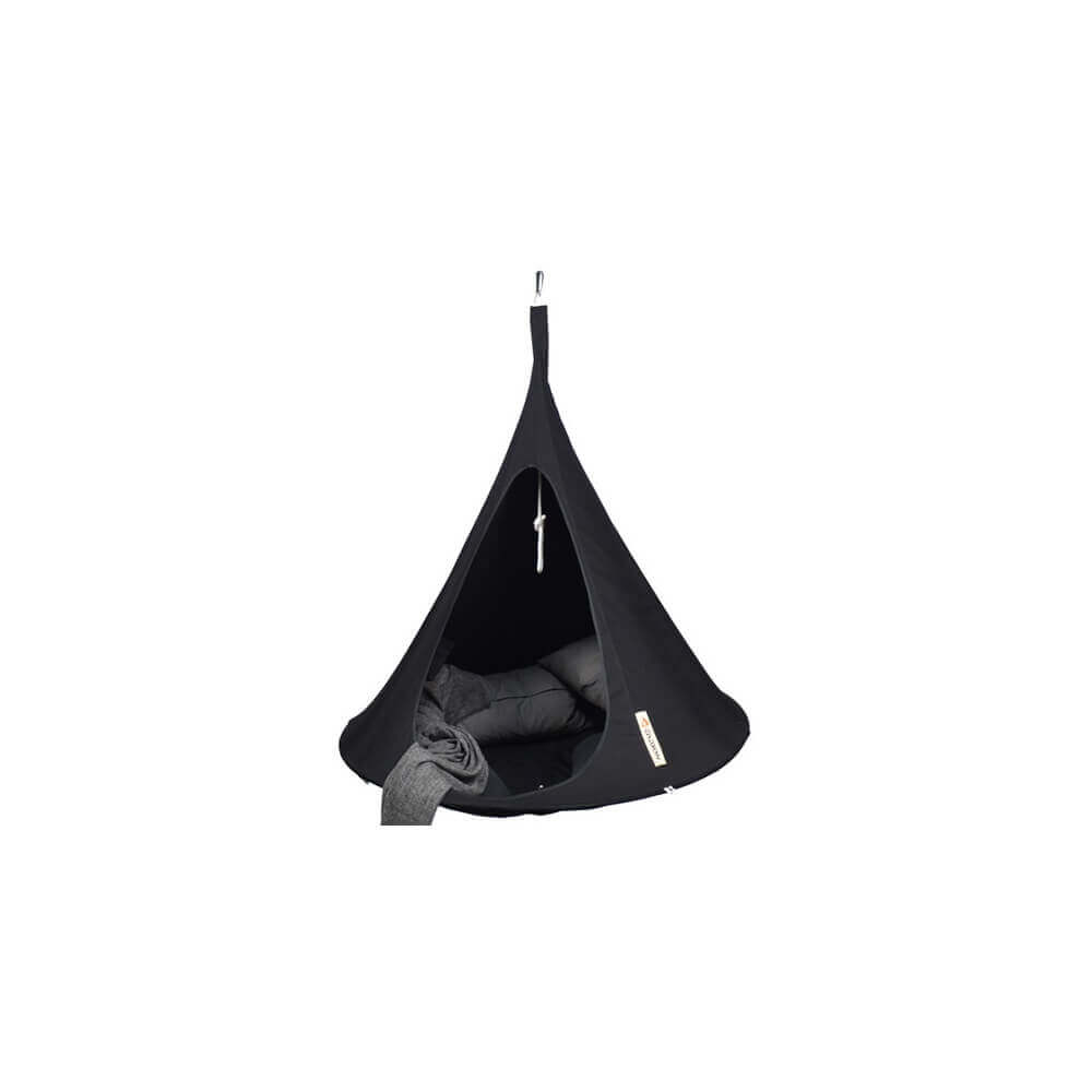 tente suspendue 150 cm cacoon single noir. Black Bedroom Furniture Sets. Home Design Ideas