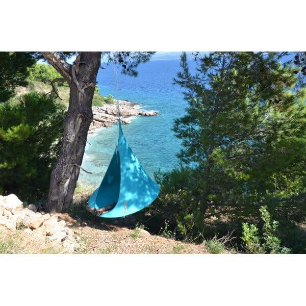 Tente suspendue 150 cm cacoon single turquoise - Tente suspendue cacoon ...