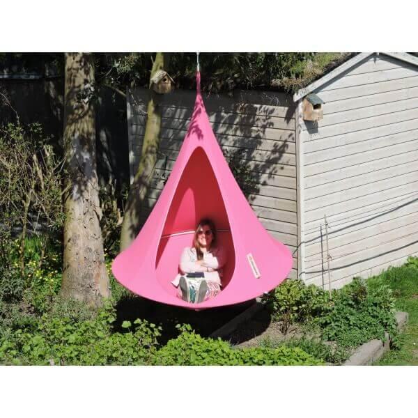 Tente suspendue 150 cm cacoon single fushia - Tente suspendue cacoon ...