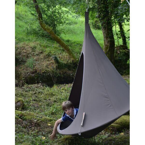 Tente suspendue 150 cm cacoon single taupe - Tente suspendue cacoon ...