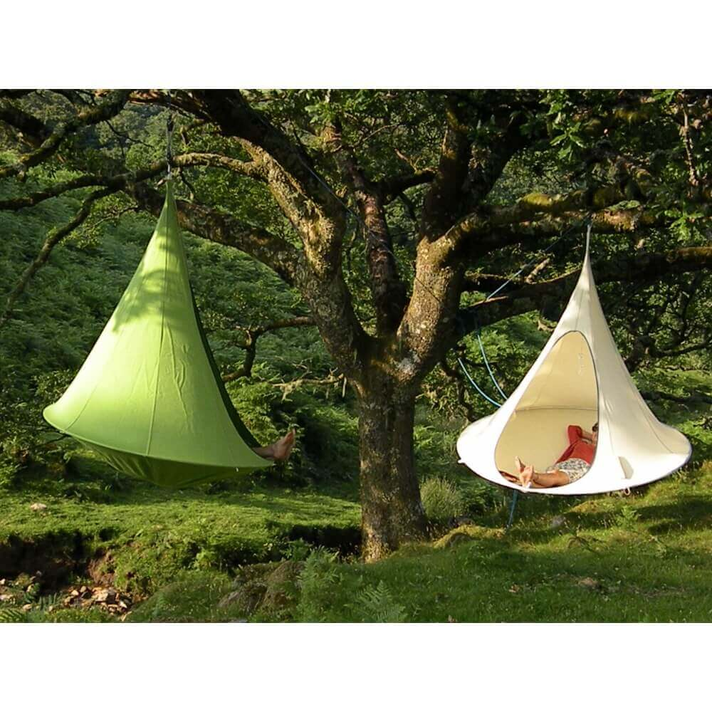 tente suspendue 180 cm cacoon double vert. Black Bedroom Furniture Sets. Home Design Ideas
