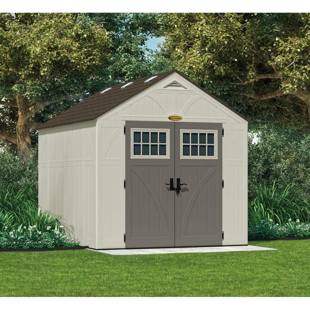 abri de jardin r sine suncast woodgrain 7 90m. Black Bedroom Furniture Sets. Home Design Ideas