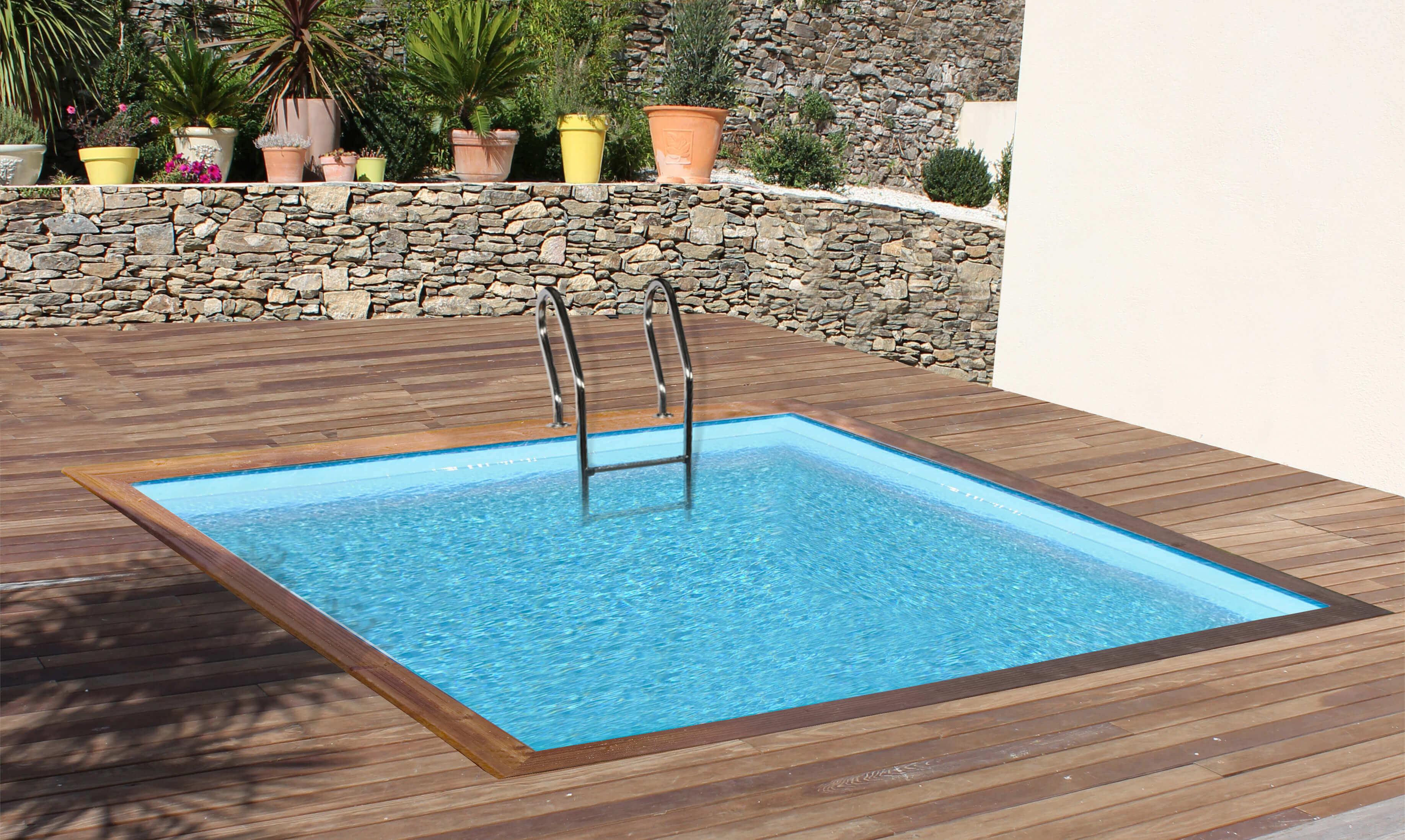 Piscine Tubulaire Habillage Bois piscine bois carra 305 x 305 x h 119 cm - version 2020