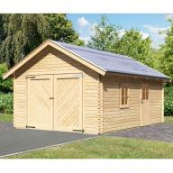 Garage en bois 40mm Karibu avec toit double pente