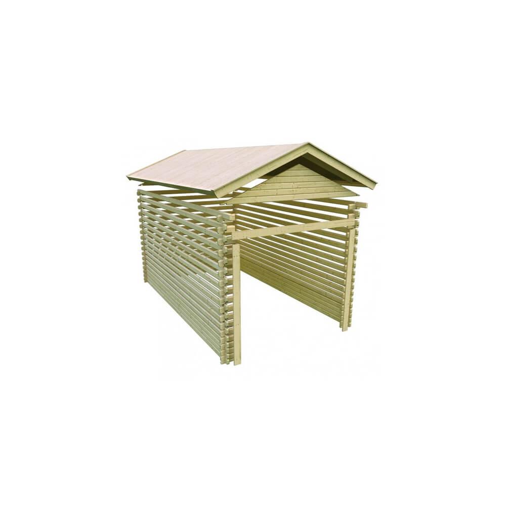 garage en bois 40 mm mypiscine. Black Bedroom Furniture Sets. Home Design Ideas