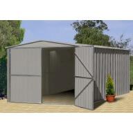Garage métal Zincalume 14.24 m² TRECO