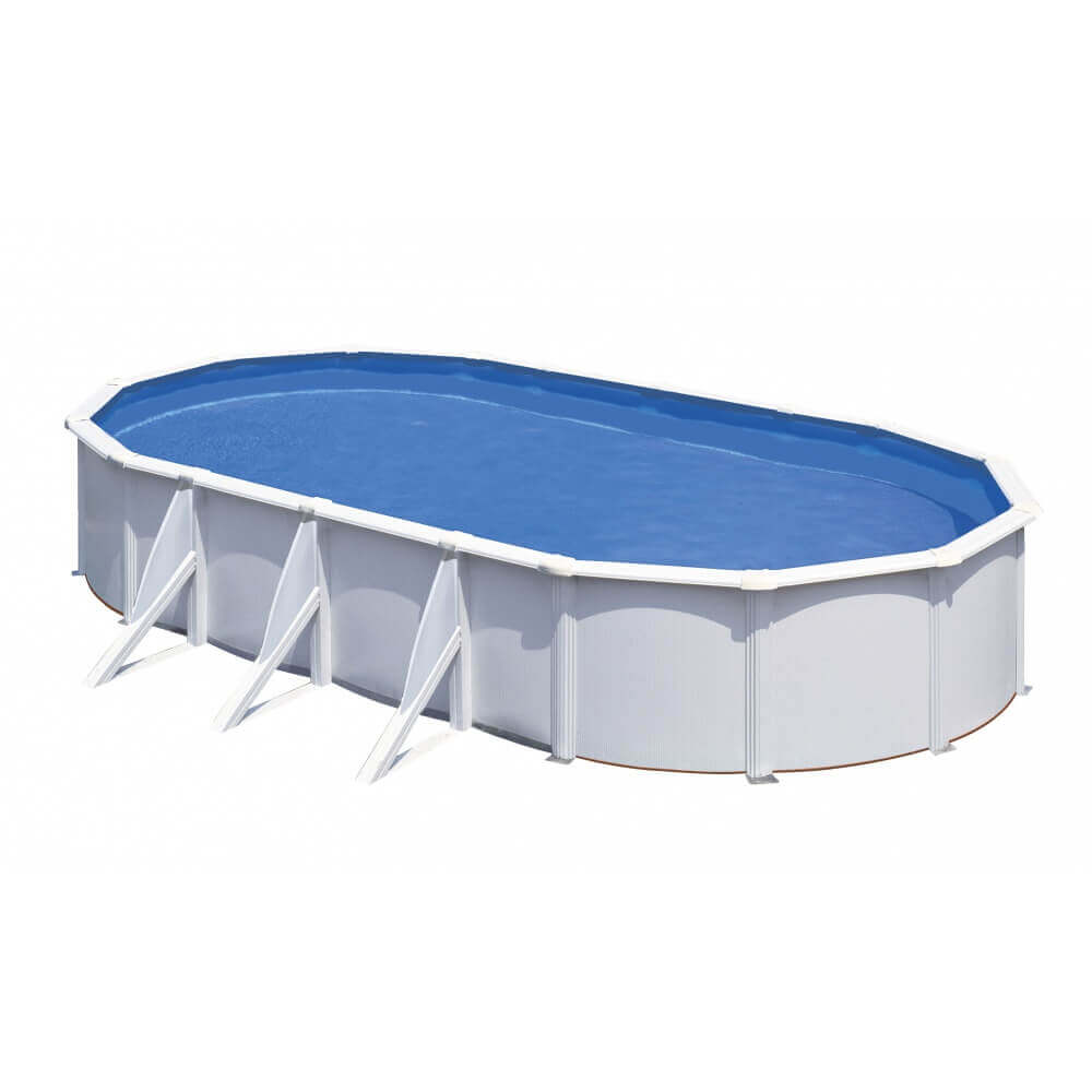Piscine hors sol gre fidji 810 x 470 x h120 cm kit810eco for Piscine hors sol 90 cm