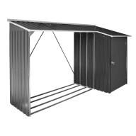 Abri bûches et remise métal DURAMAX Woodstore + Store 6x2 m