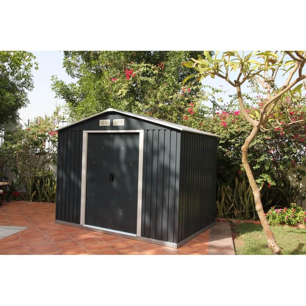 abri de jardin m tal duramax titan m abri b ches. Black Bedroom Furniture Sets. Home Design Ideas